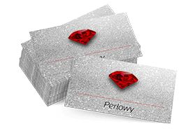 wizytówki - papier perłowy