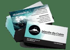 wydrukowane wizytówki